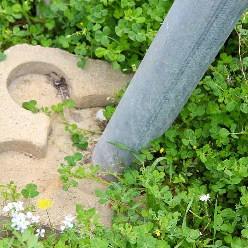 Basette sottopalo in cemento